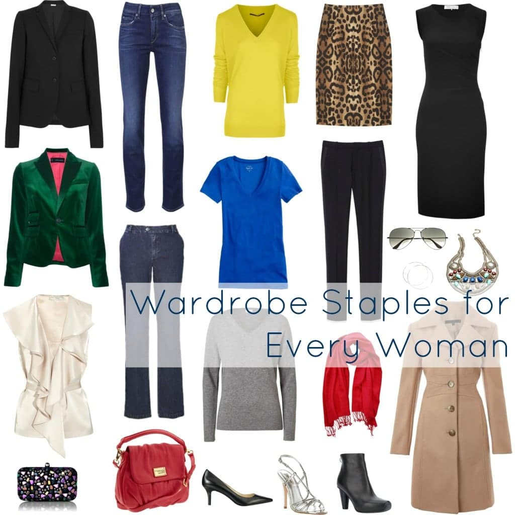 woman closet staples wardrobe