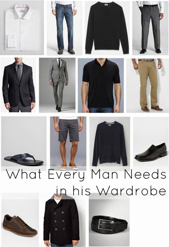 men wardrobe staples capsule closet basics