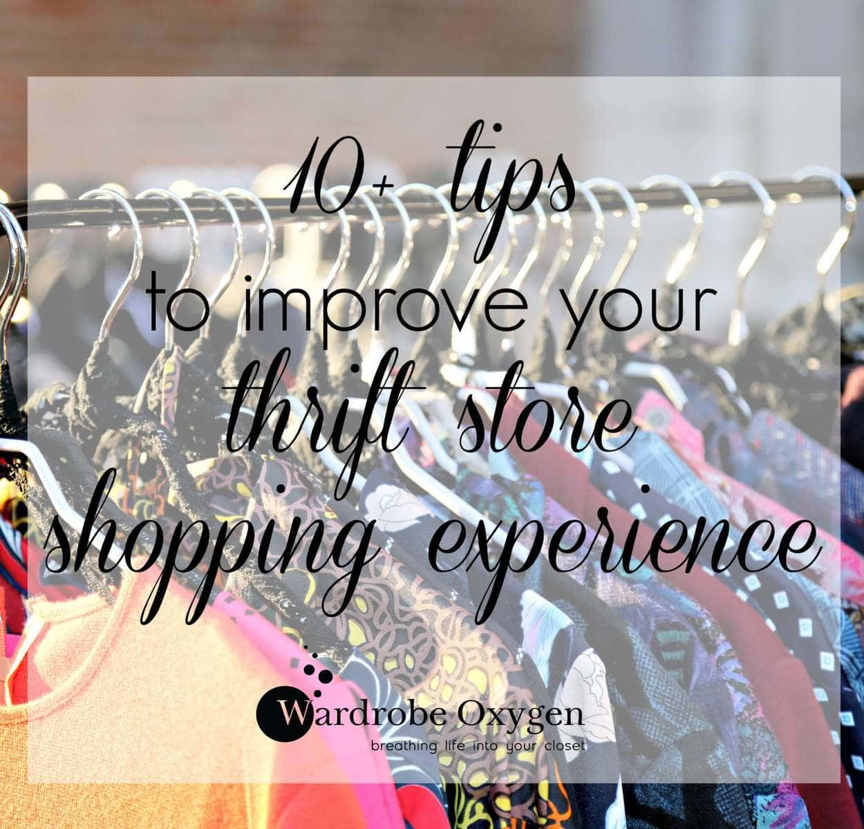 10 tips to improve your thrift store shopping experience