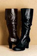 wide calf boot tall leather Silhouettes