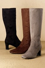 wide calf boot tall suede Silhouettes