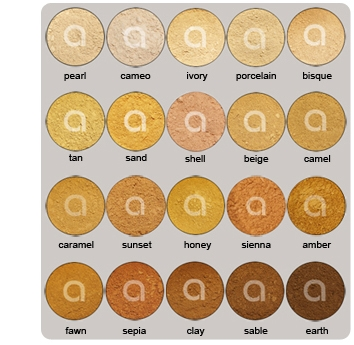 organic mineral foundation swatches