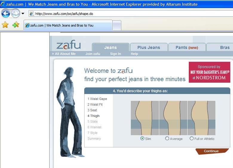 Zafu Jeans Finder
