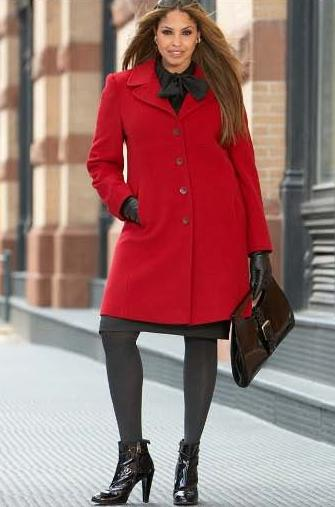Larry Levine Wool Coat Plus Size
