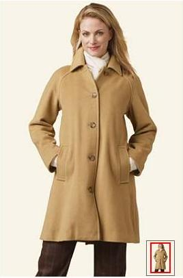 Lands End Wool Coat