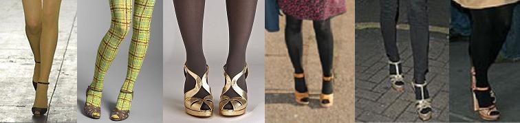 tights peeptoe heels