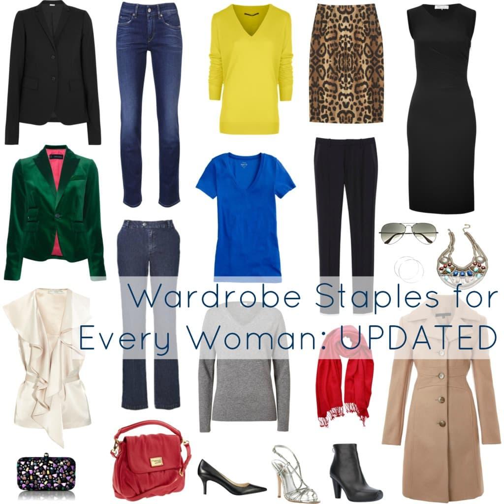 woman closet staples wardrobe new