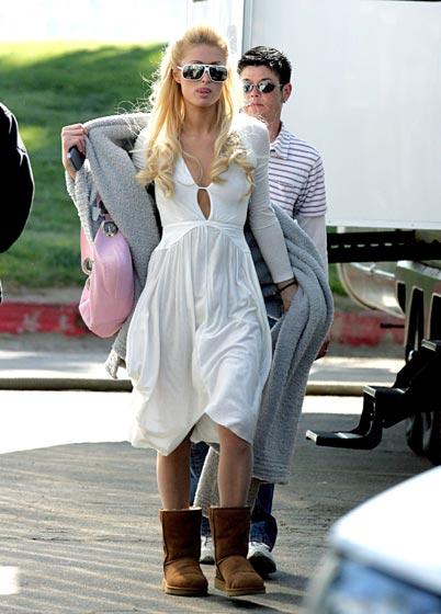 Paris Hilton ugg short