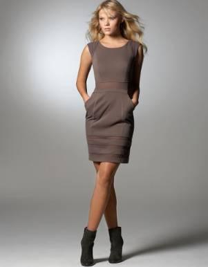 sheath dress with booties