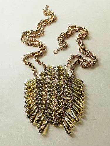 talbots teardrop ladder necklace