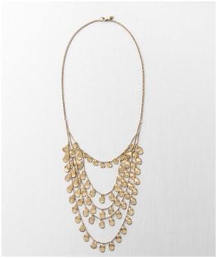 long layered teardrops necklace ann taylor loft