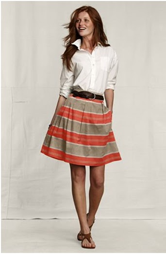 pleated pattern skirt lands end canvas
