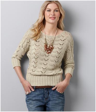 scallop stitch sweater ann taylor loft