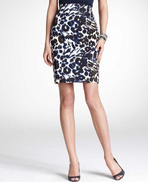 ann taylor shibori print skirt