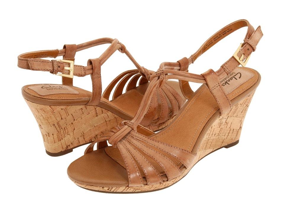 clarks fiddle Scroll wedge sandal zappos