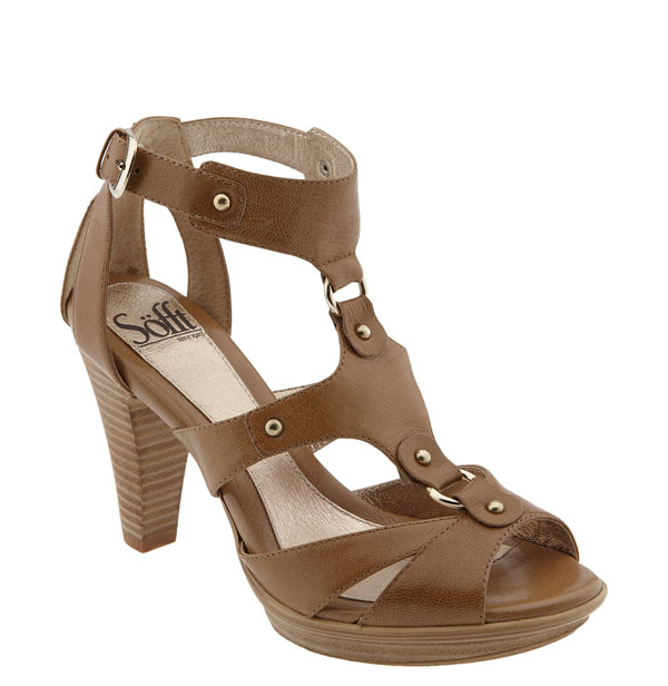 sofft renata sandal wood heel comfort shoe