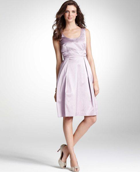 ann taylor full skirt scoop dress