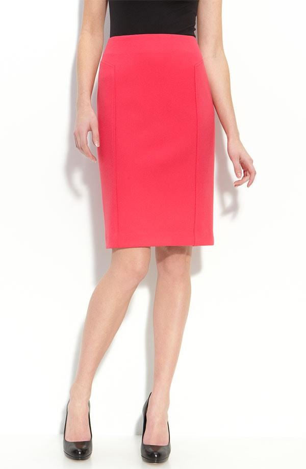 halogen seamed knit skirt