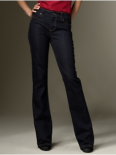 talbots Signature Fit Midnight Rinse five pocket bootcut jeans