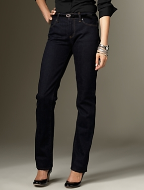 talbots Signature Fit Midnight Rinse straight leg jeans