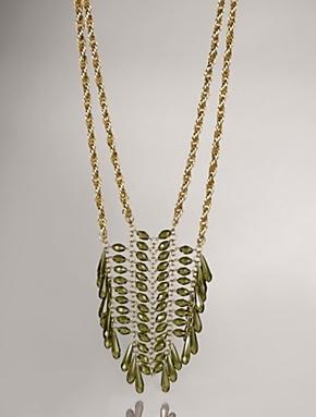talbots tear drop ladder necklace