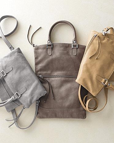 firenze convertible leather bag garnet hill