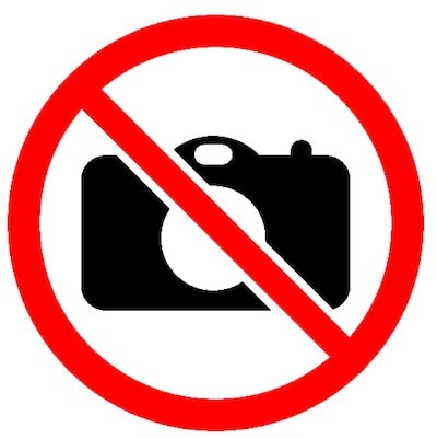 no camera allowed