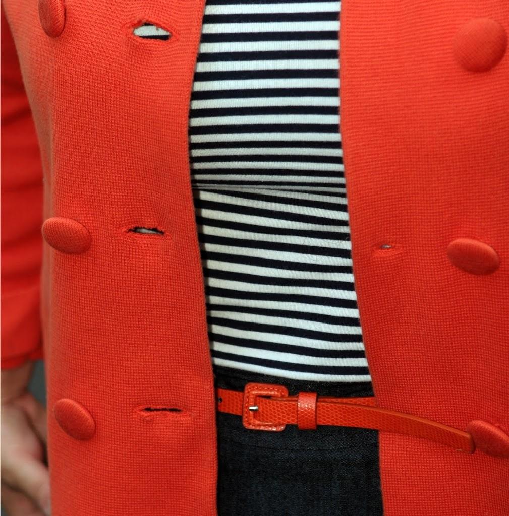 orange nautical stripes