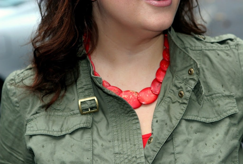 red stone neckl 253Bace
