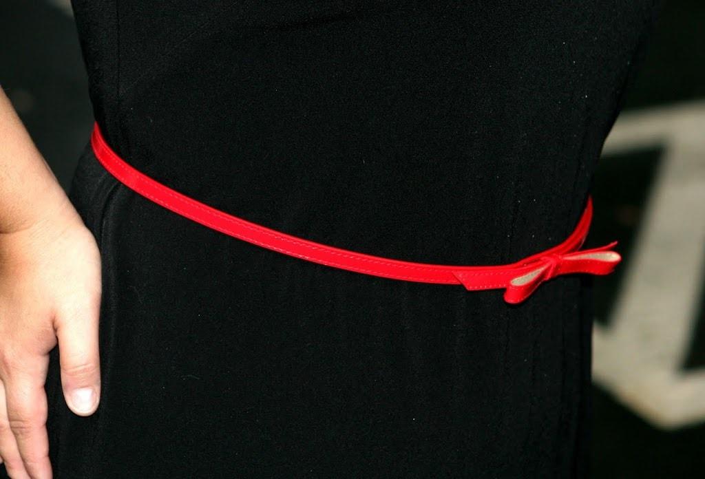 red skinny belt
