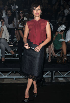 Kristin Scott Thomas lanvin paris fashion week