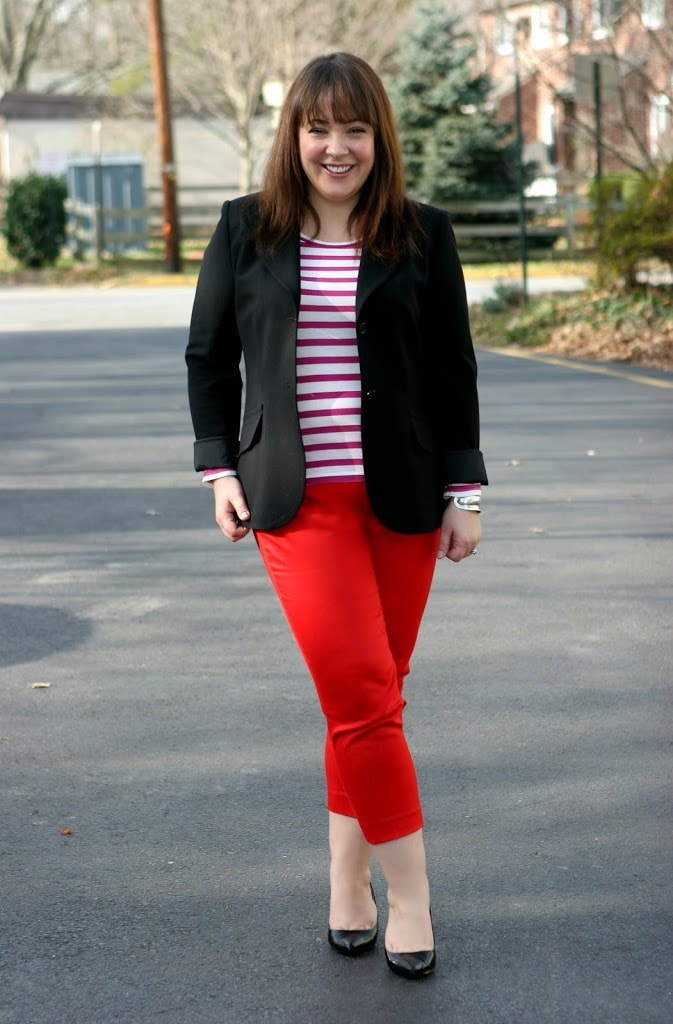 LOFT striped tee blazer