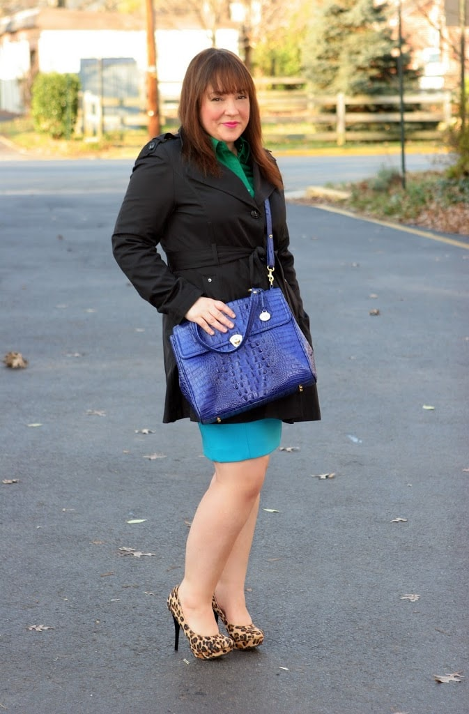 brahmin purse blue