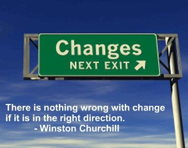 change roadsign