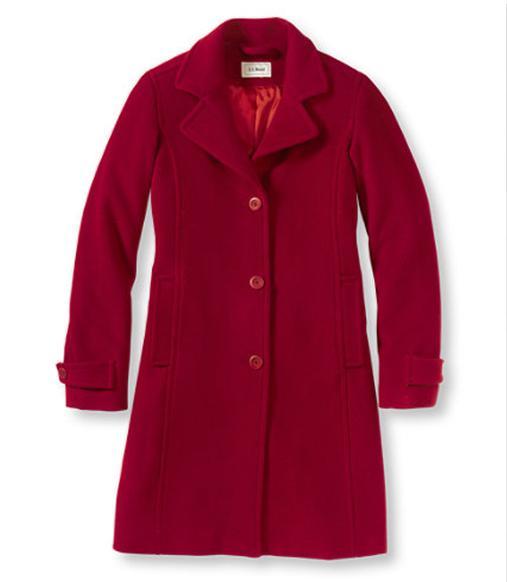 llbean classic lambswool polo coat