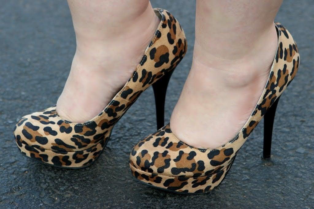 target viviana leopard heels