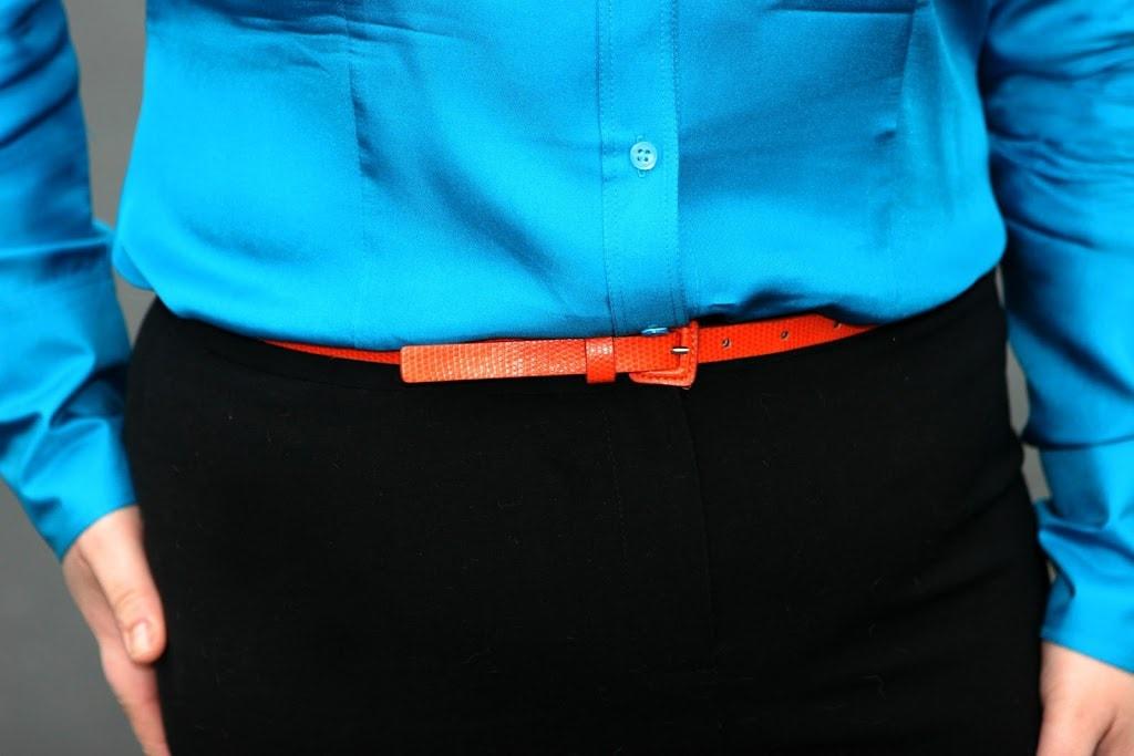 orange skinny belt