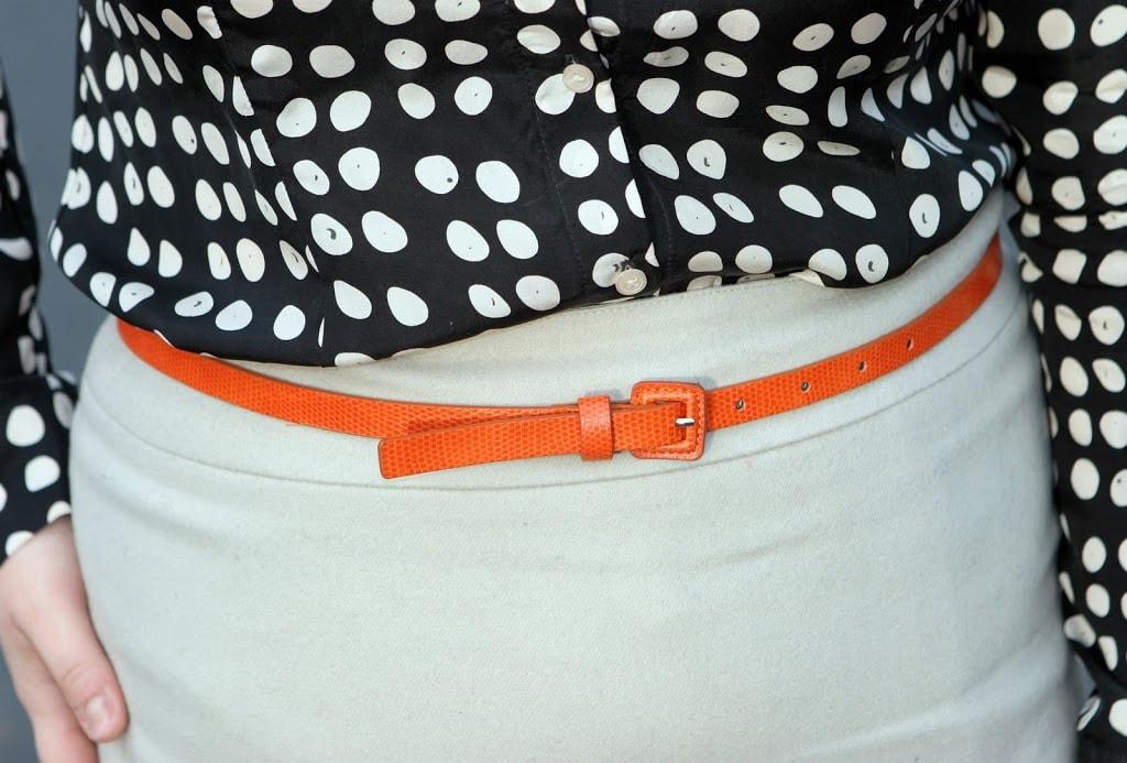 orange skinny belt1