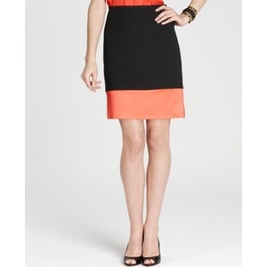 ann taylor colorblock skirt