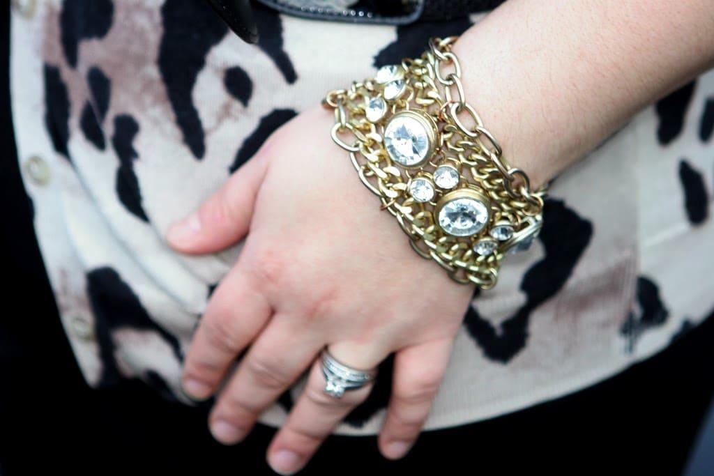 anthropologie crystal bracelet