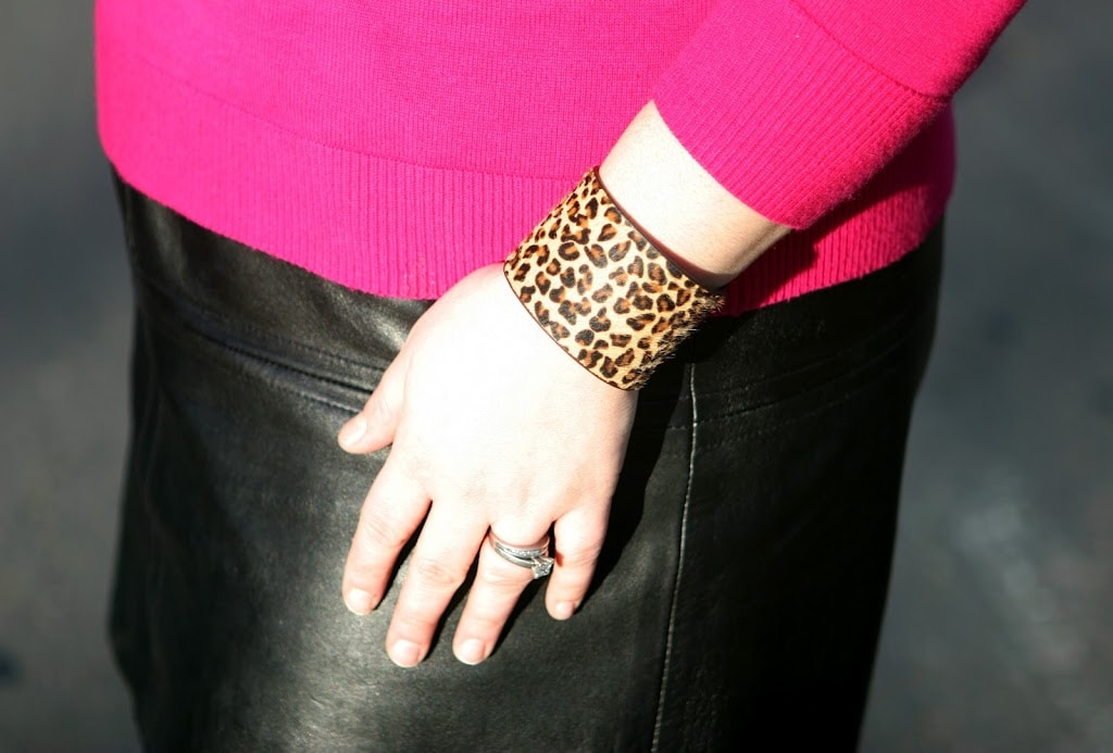 leopard haircalf cuff