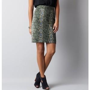 loft snakeskin pencil skirt