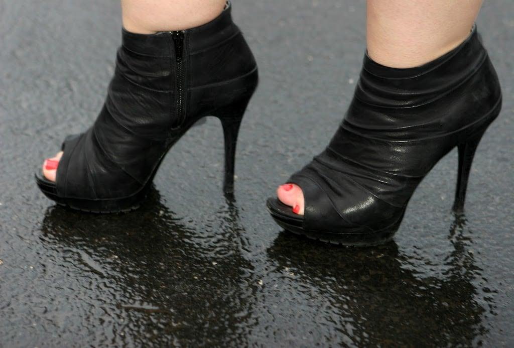 peeptoe ankle booties