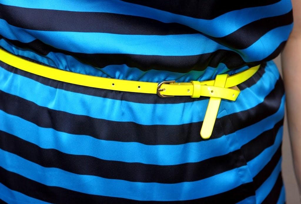 ann taylor neon skinny belt
