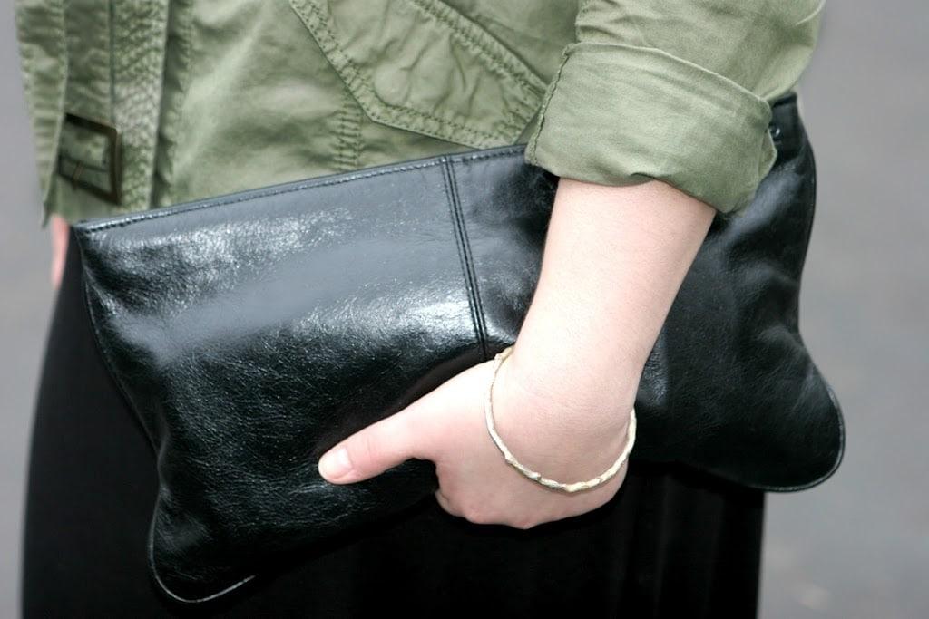 black leather clutch1