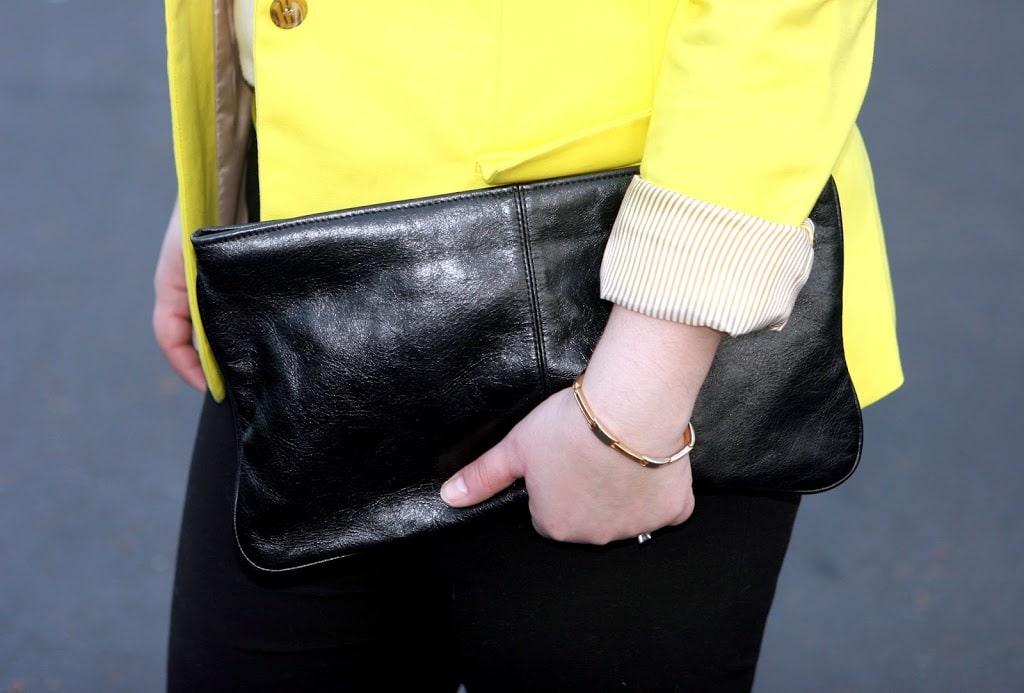 black leather clutch2