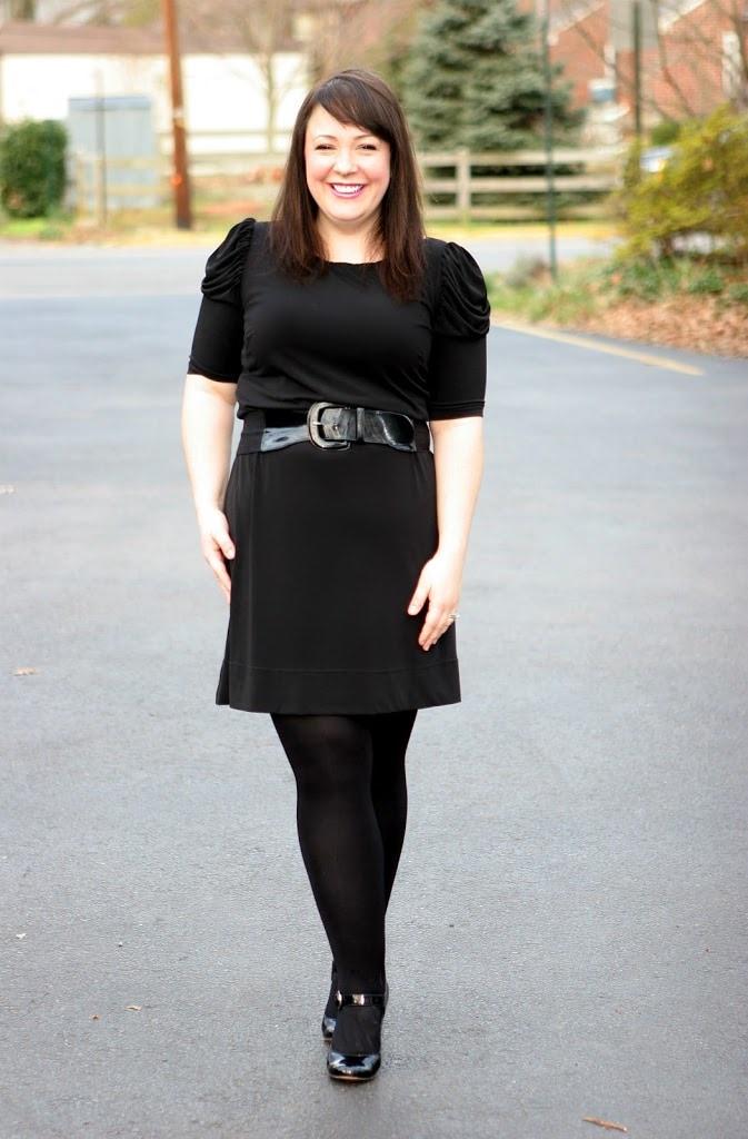 black matte jersey dress