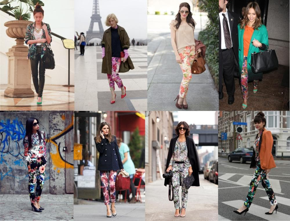 floral pants trend fashion olivia palermo