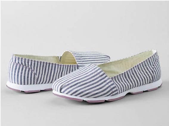 lands end gatas canvas slip on shoe