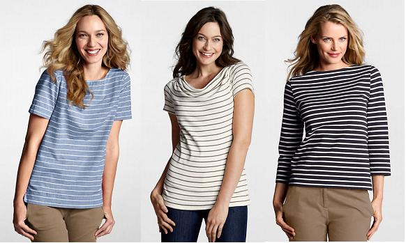 lands end striped tees